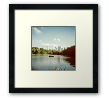 Central Park NYC - Holga Framed Print