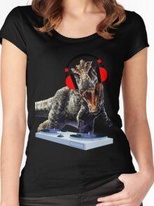 DJ Dinosaur Women's Fitted Scoop T-Shirt