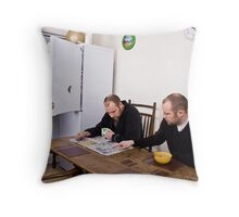 Breakfast time Throw Pillow