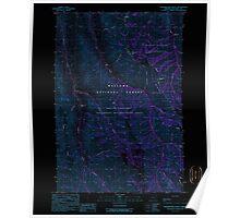 USGS Topo Map Oregon Fingerboard Saddle 279859 1990 24000 Inverted Poster
