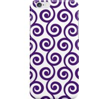 Purple Geometric Swirl Pattern iPhone Case/Skin