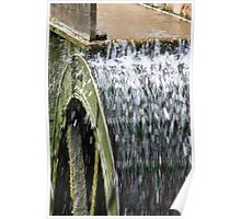 Working Water Wheel Poster