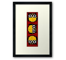 The complex life of owls Framed Print