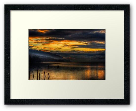 Golden Hour on Loch Ness by Fraser Ross