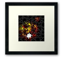 Hot planet jigsaw puzzle Framed Print