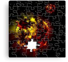 Hot planet jigsaw puzzle Canvas Print