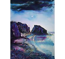 'Port du Moulin by Moonlight, Isle of Sark' Photographic Print