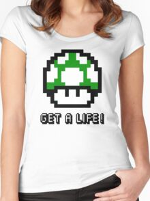 Mario Mushroom Get A Life Women's Fitted Scoop T-Shirt