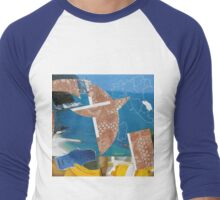 Collage Italy-Italie Inspiration Trip-Voyage by CHAUSSÉ Men's Baseball ¾ T-Shirt