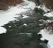 Winter River by michaelmattison
