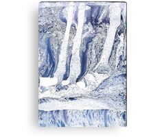Winter Spirit Marbling II Canvas Print
