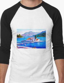 Tranquil Island Men's Baseball ¾ T-Shirt