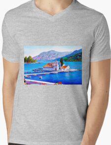 Tranquil Island Mens V-Neck T-Shirt