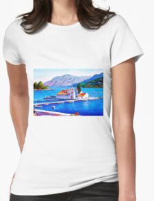 Tranquil Island Womens Fitted T-Shirt