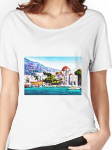 Tranquil harbour Women's Relaxed Fit T-Shirt