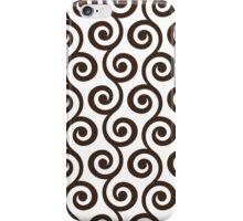 Chocolate Geometric Swirl Pattern  iPhone Case/Skin