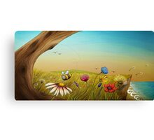 """The Earth Laughs In Flowers"" Canvas Print"