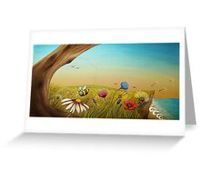 """""""The Earth Laughs In Flowers"""" Greeting Card"""