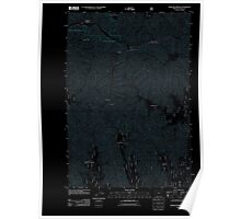 USGS Topo Map Oregon Bingham Springs 20110822 TM Inverted Poster