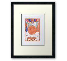 Birthday Basketball Framed Print
