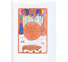 Birthday Basketball Photographic Print