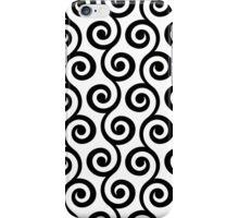 Black Geometric Swirl Pattern iPhone Case/Skin