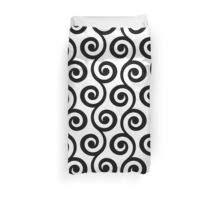 Black Geometric Swirl Pattern Duvet Cover