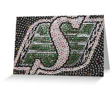 The Roughriders - Bottle Cap Mosaic Greeting Card