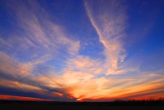 As the sun sets by Karen  Rubeiz
