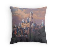 Sleeping Beauty Castle 60th Throw Pillow