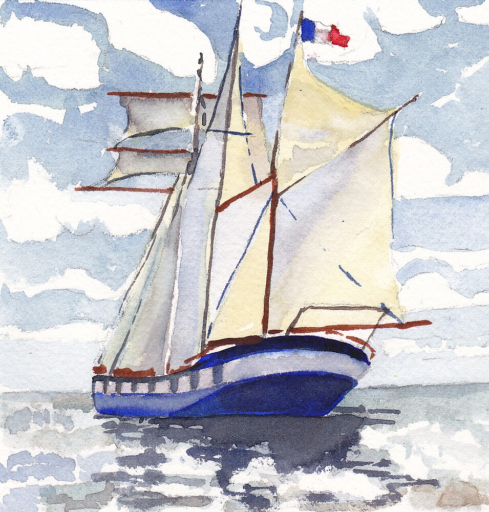 Belem - Tall ship of France by Phyllis Dixon