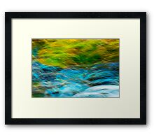 Burbling Along Framed Print
