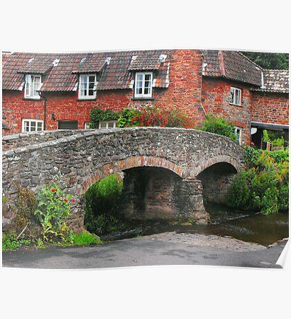My England.  Packhorse Bridge at Allerford Somerset Poster