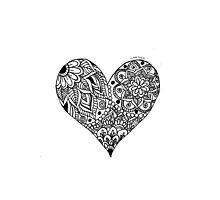 Mandala Heart by E-ARTHER