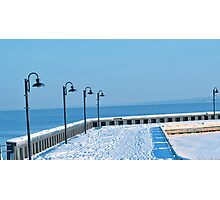 Cold Lake Marina Photographic Print