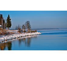 Cold Lake in the Snow Photographic Print