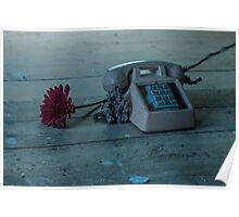 Phone And Flower Poster