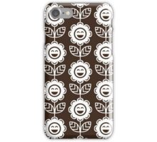 Chocolate Fun Smiling Cartoon Flowers iPhone Case/Skin