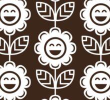 Chocolate Fun Smiling Cartoon Flowers Sticker