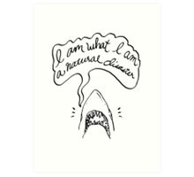 The Shark Tee Art Print