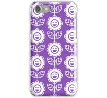 Light Purple Fun Smiling Cartoon Flowers iPhone Case/Skin