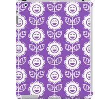 Light Purple Fun Smiling Cartoon Flowers iPad Case/Skin