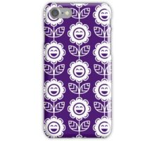 Purple Fun Smiling Cartoon Flowers iPhone Case/Skin