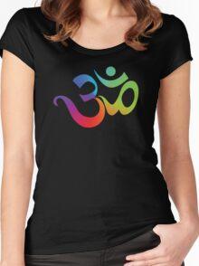 Yoga Om Symbol T-Shirt Women's Fitted Scoop T-Shirt