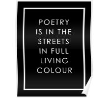 Poetry Is In The Streets Poster