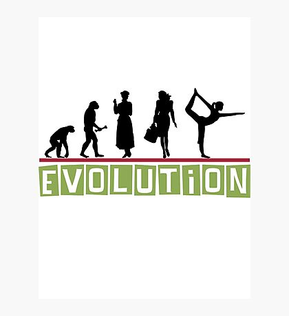 "Yoga ""Evolution"" T-Shirt Photographic Print"
