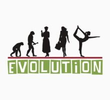 "Yoga ""Evolution"" T-Shirt One Piece - Short Sleeve"