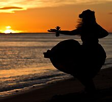 Hula Sunset II by Zach Pezzillo