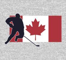 Canada - Canadian National Flag Hockey T-Shirt Top Kids Tee