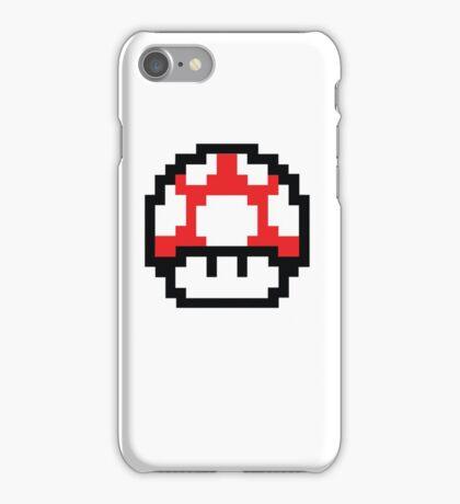 8-Bit Mario Nintendo Mushroom Red iPhone Case/Skin